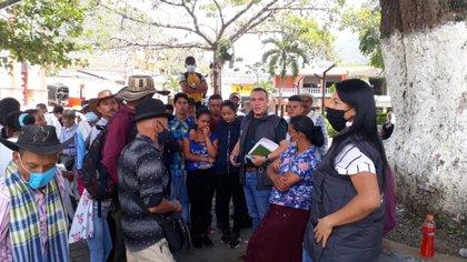 Desplazados en Peque, Antioquia. / Personero Juan Diego Fernández