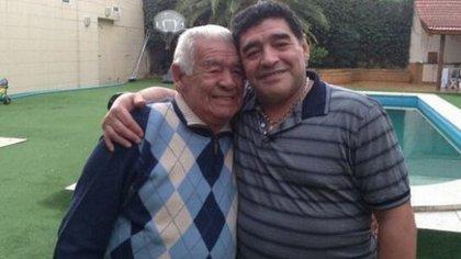 Padre e hijo: Don Diego y Diego Maradona
