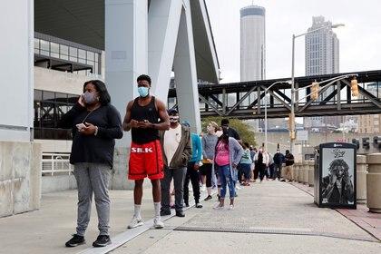 Largas filas para el voto anticipado en Atlanta, Georgia (Reuters)