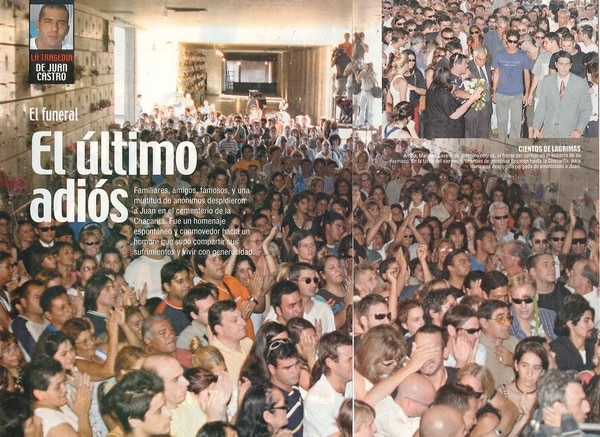 El multitudinario funeral de Juan Castro (Foto: Revista Paparazzi)