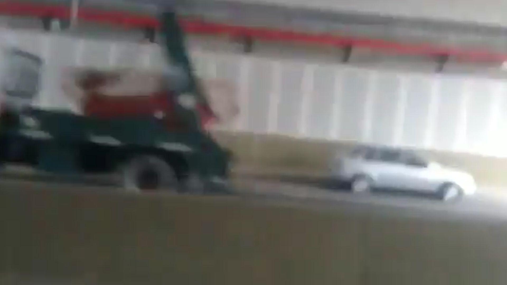 El conductor fue identificado y multado
