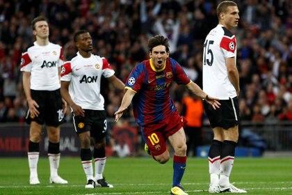 La camiseta que utilizó el Barcelona en la obtención de la Champions League 2011 (Foto: Reuters)