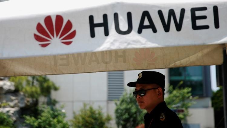 El logotipo de una compañía Huawei se ve en el Centro de Investigación de Huawei en Shanghai, China, el 22 de mayo de 2019. REUTERS/Canción Aliada