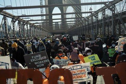 Manifestación en Brooklyn (Jose A. Alvarado Jr./The New York Times)