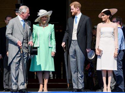 La familia real en un evento reciente (Mandatory Credit: Photo by Tim Rooke/Shutterstock)