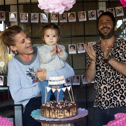 Eugenia y Francisco celebraron el primer cumpleaños de Ema (Instagram)