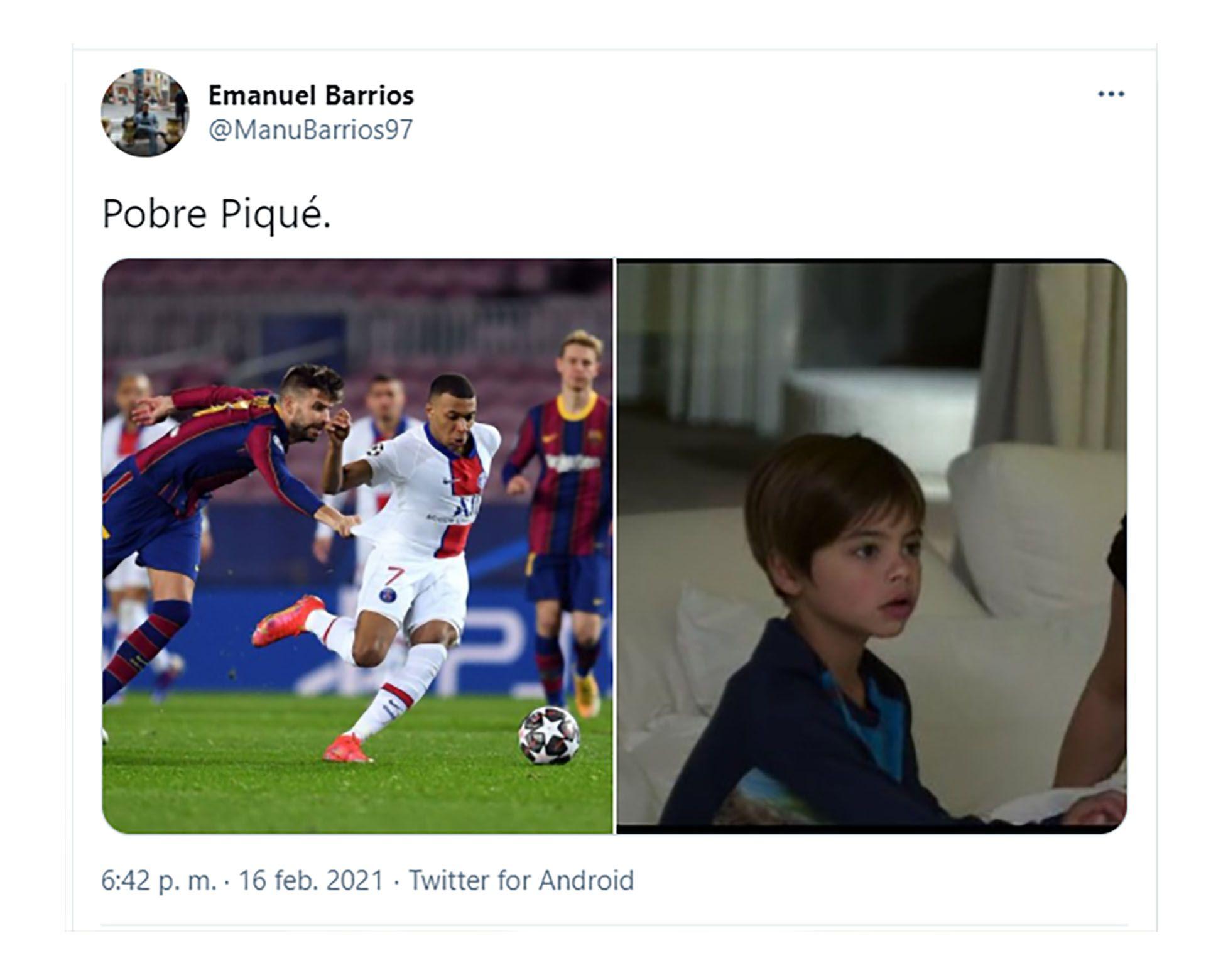 memes de la derrota del Barcelona ante el PSG