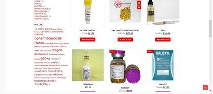 Imagen de una página dedicada a la venta de esteroides dentro de la Deep Web (Foto: Captura de pantalla)