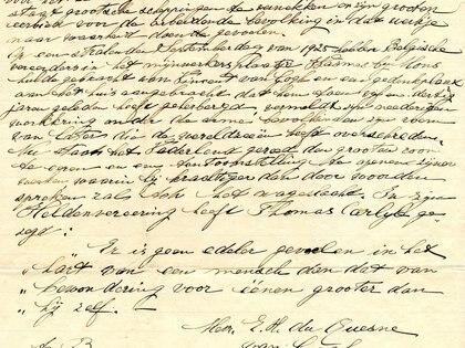 Una de las 900 cartas con las que trabajó Willem-Jan Verlinden, en este caso una de Lies.