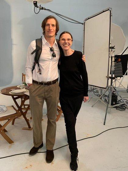 La productora de modas, Josefina Laurent junto a Iván de Pineda