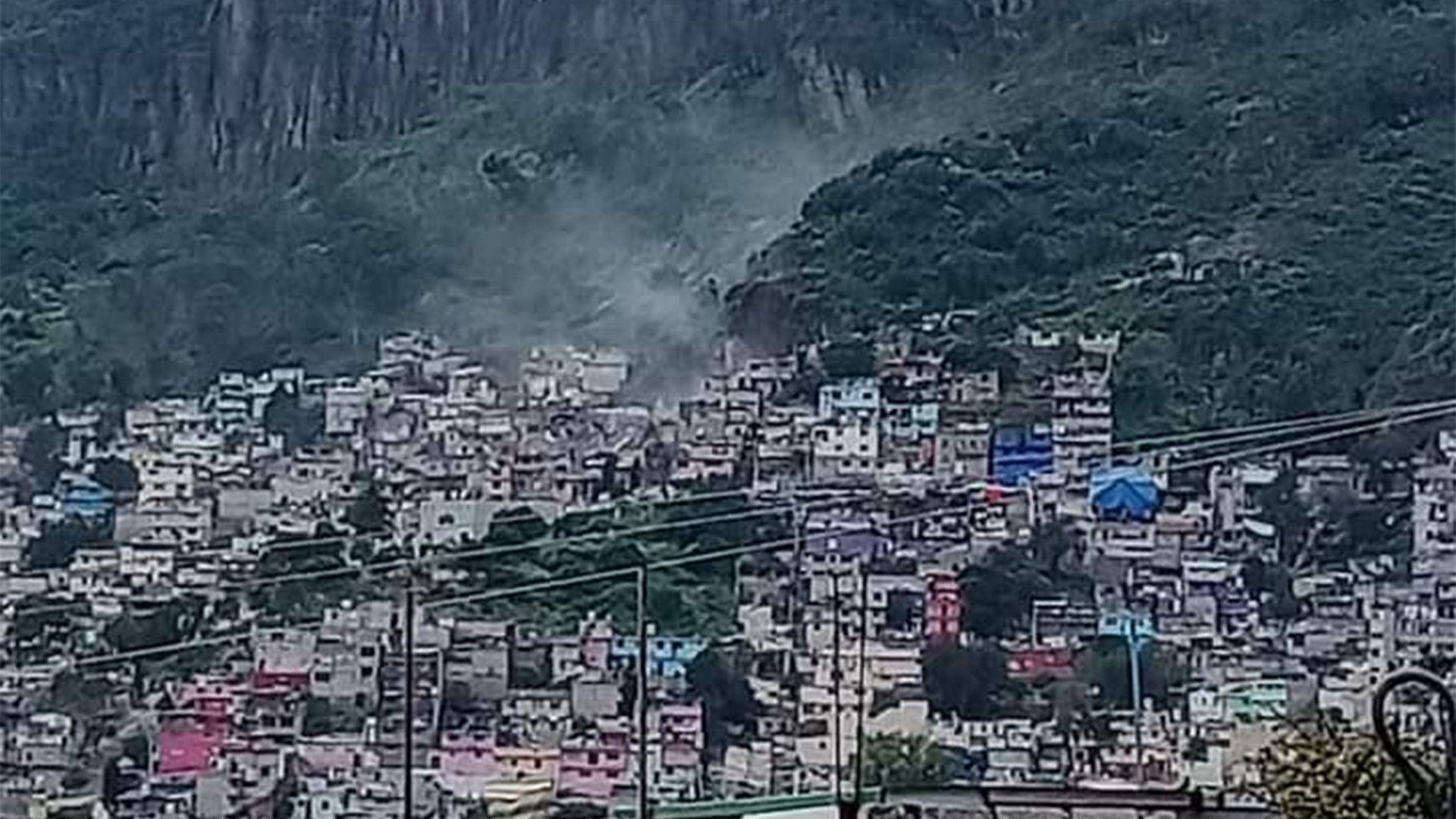 desgajó cerro de Chiquihuite en la CDMX (Foto: Twitter@cdmx_diario)