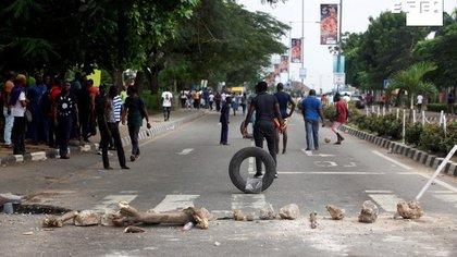 . (Protestas Nigeria) EFE/EPA/AKINTUNDE AKINLEYE