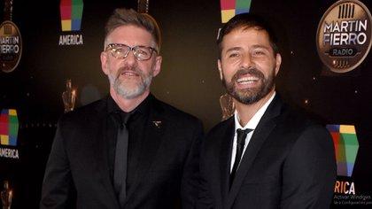 Luis Novaresio y Braulio Bauab en los premios Martín Fierro de Radio