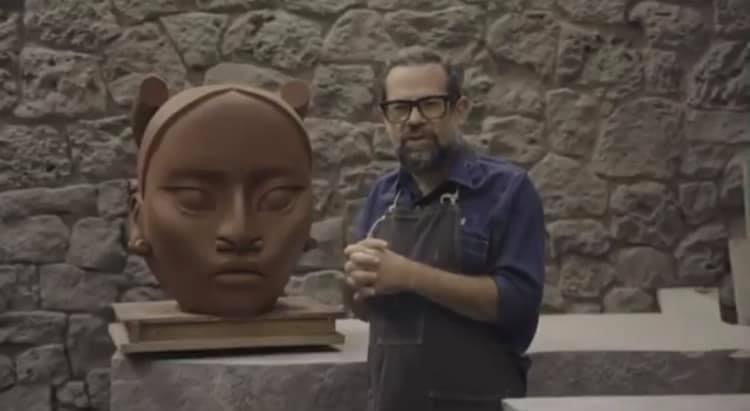 Tlali, la escultura que sustituirá la de Colón (Foto: Twitter@ViajeDistopia)