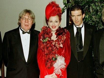 Alan Parker, Madonna y Antonio Banderas fueron declaradas personas no gratas en la Argentina (REUTERS)