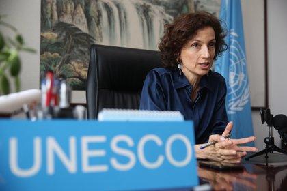 La directora general de la Unesco, Audrey Azoulay.  EFE/EPA/WU HONG/Archivo