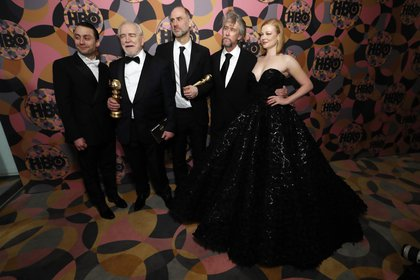 """El elenco de """"Succession"""" en los últimos Globos de Oro (REUTERS)"""