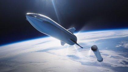 Prototipo del cohete Starship de SpaceX.