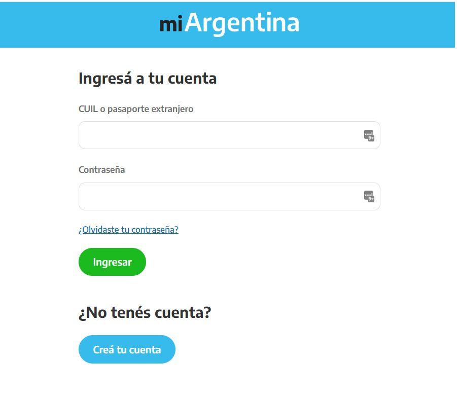 Aplicación Mi Argentina