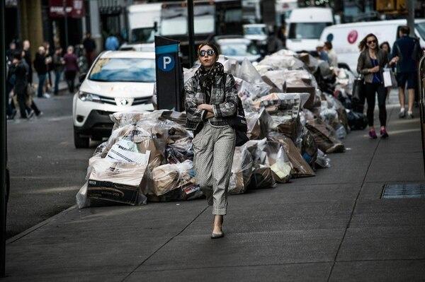 Cartones apilados en Manhattan. (Kadir van Lohuizen/Noor/The Washington Post)