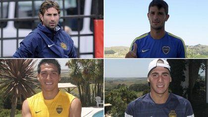 Cristian Lucchetti, Federico Bravo, Luciano Monzón y Cristian Erbes son los ex Boca que enfrentarán a River con Atlético Tucumán (Fotobaires)