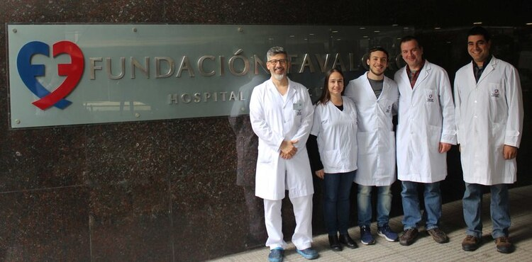 Parte del equipo del trabajo: Alejandro Bertolotti, Natalia Pacienza, Ricardo Malvicini, Gustavo Yannarelli y Diego Santa-Cruz. FOTO: gentileza Conicet