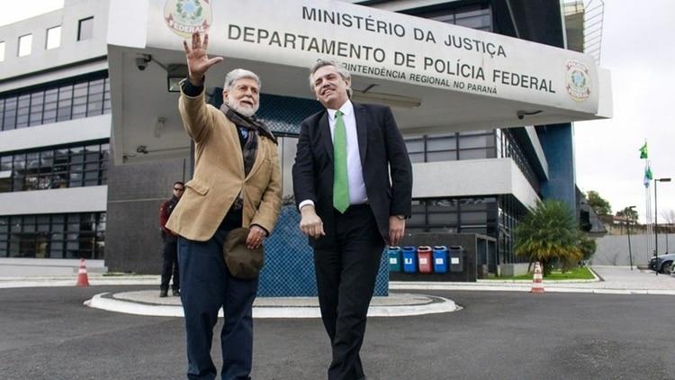 En julio Alberto Fernández visitó a Lula Da Silva. Lo acompañó el ex canciller Celso Amorim