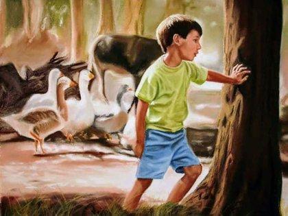Una de las pinturas de Magrini que están en la galería virtual de la Sociedad Argentina de Cirugía Plástica, Estética y Reparadora (www.sacper.org.ar/galeria-de-arte/)