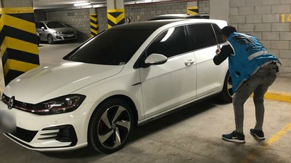 The victims were run over by a white Volkswagen Golf GTI that the now arrested man was driving