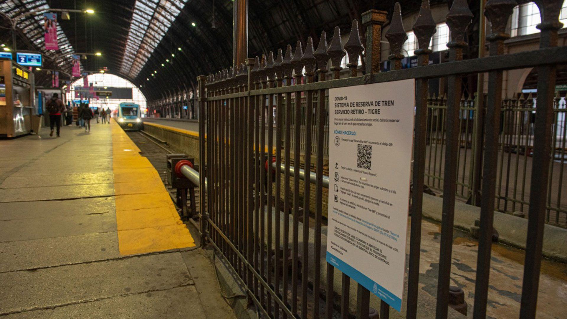 trenes argentinos cuarentena