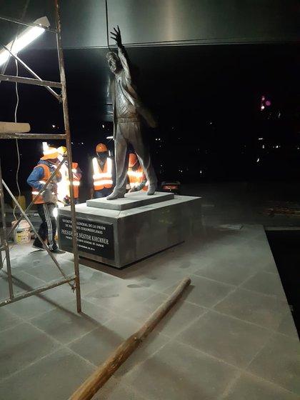 La estatua será restaurada por el mismo artista que la hizo