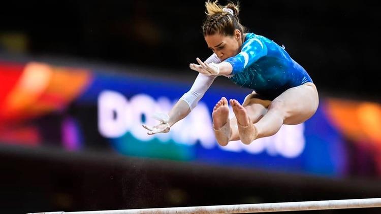 Tarabini fue una de las mejores gimnastas argentinas de la última década, pero las lesiones no la permitieron clasificar a los Juegos Olímpicos