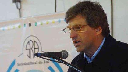 Matías de Velazco, presidente de la Confederación de Asociaciones Rurales de Buenos Aires y La Pampa (Carbap)