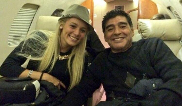 Rocío Oliva y Diego Maradona cuando eran pareja
