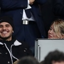 Soccer Football - Copa Libertadores Final - Second Leg - River Plate v Boca Juniors - Santiago Bernabeu, Madrid, Spain - December 9, 2018 Inter Milan's Mauro Icardi with Wanda Nara in the stadium before the match REUTERS/Sergio Perez