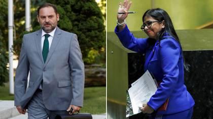 José Luis Ábalos y Delcy Rodríguez (REUTERS)