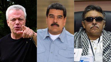 """El ex sicario, Popeye; Nicolás Maduro y el jefe de las FARC preso por narcotráfico, """"Jesús Santrich"""""""