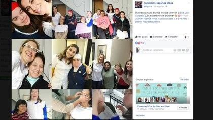 La fundación Segunda Etapa en sus redes sociales agradeciendo e invitando nuevamente a que se acerquen más personas (Facebook Fundación Segunda Etapa)