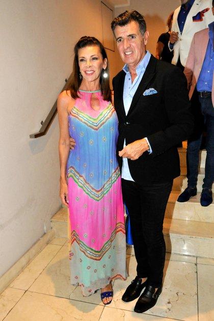 La conductora Fabiana Araujo y su marido, Alex Pérez Escoda