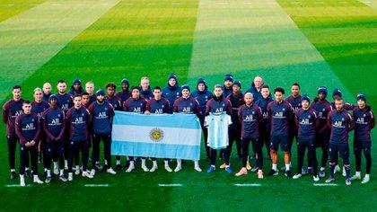 El homenaje del PSG