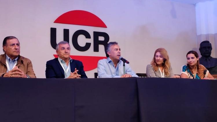 Alfredo Cornejo fue reelegido en diciembre como presidente del comité nacional de la UCR