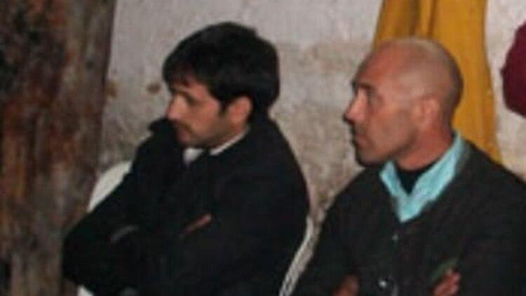 """El senador Jorge """"El Loco"""" Romero y Miguel Ángel Despo, jefe de logística de La Cámpora"""