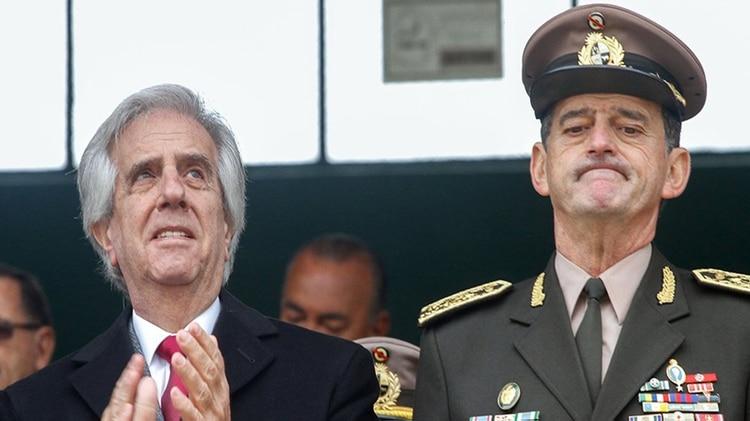 Tabaré Vázque desplazó a Manini Ríos de la conducción del ejército en marzo pasado