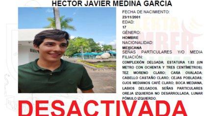 La Fiscalía General del Estado de Colima desactivó la Alerta Ámber al darse a conocer la muerte del estudiante (Foto: Twitter/AAMBER_col)