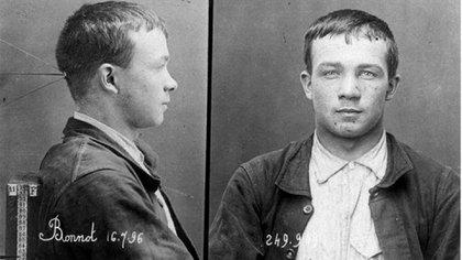 Jules Bonnot, en su ficha policial