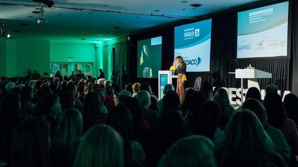 """El auditorio estuvo lleno durante el """"Tercer Congreso de Inteligencia Emocional, Liderazgo Coach y Mindfulness"""" organizado por la Universidad Siglo 21, en la ciudad de Córdoba"""