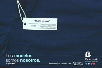 """Existen 12 leyes en la Argentina, entre provinciales y municipales, conocidas como """"leyes de talles"""" y aún la diversidad no llega a las prendas, ni tampoco a la industria textil para incluir el fenómeno."""