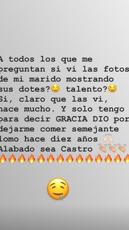 La respuesta de Sabrina Rojas, luego de que se filtraran fotos de Luciano Castro (Instagram)