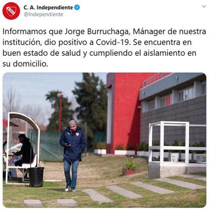 La comunicación oficial de Independiente
