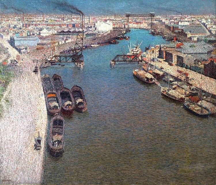"""""""El Riachuelo"""", 1916 Óleo sobre tela, 72,3 x 84,5 cm, en MuseoNacional de Bellas Artes"""